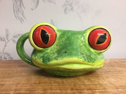 Frog Detailed Ceramic Reptile Head Jungle Mug